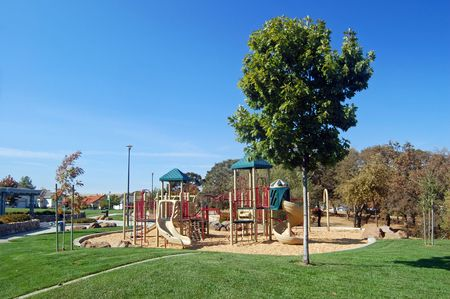 childrens playground at the park