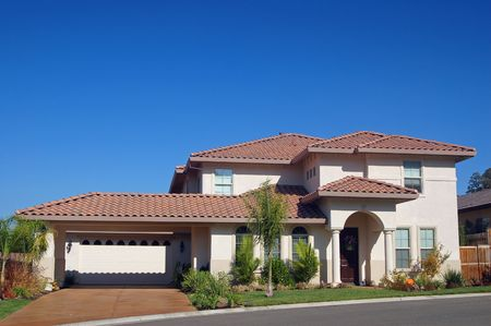 mediterranian: house in the suburbs Stock Photo