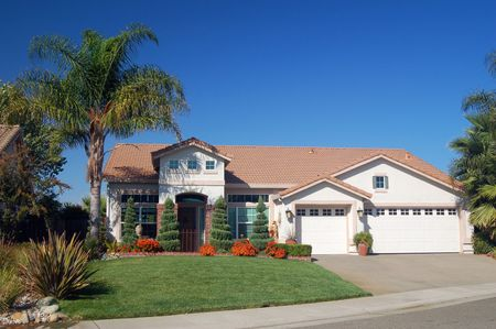 house in the suburbs Stock Photo