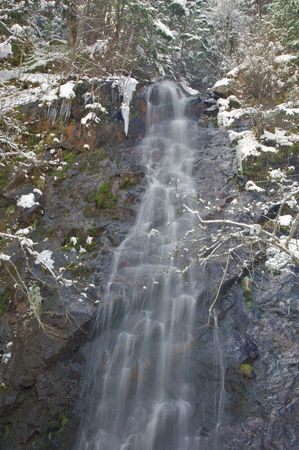 bridal veil falls off highway 50 on the way to lake Tahoe