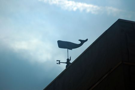weathervane in the shape of a whale Imagens