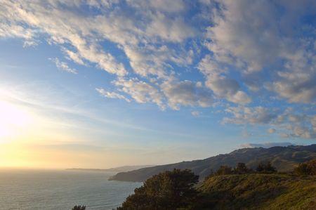 muir: evening at Muir Beach Overlook, California