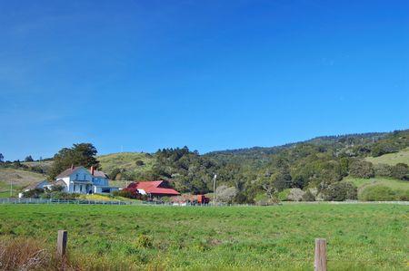 rural farmhouse in  spring Stock Photo - 355981