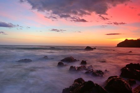 Sunset at Muir Beach, Marin County, California Stock Photo