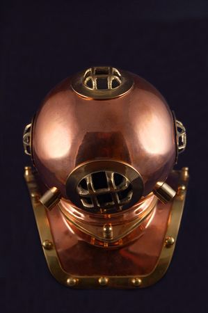 old style copper diving helmet
