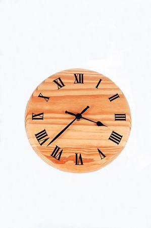 houten klok Stockfoto