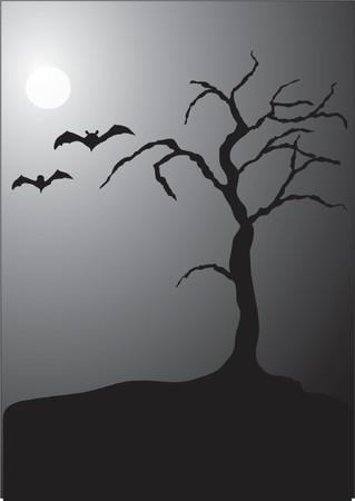 Halloween Nachtscène