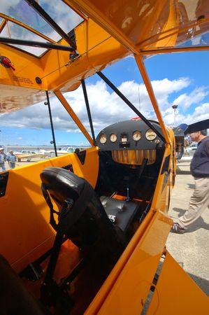 cockpit of a light airplane Фото со стока