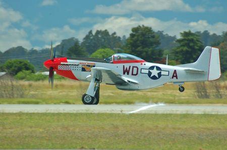 P-51 Mustang takes flight photo