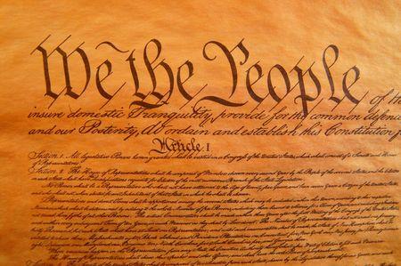 constitucion: Pre�mbulo de la Constituci�n  Foto de archivo