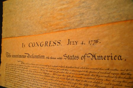 preamble: Declaration of independence Stock Photo
