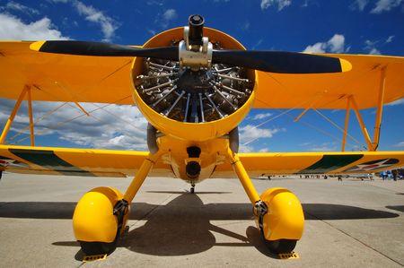 birplane at an airshow