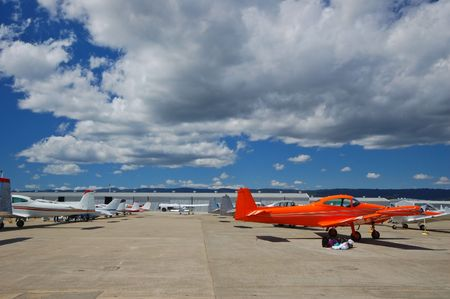 airport with light general aviation aircraft