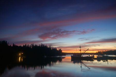 puget: sunset on Marrowstone Island, Puget Sound