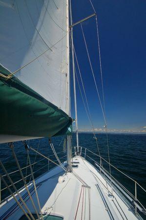 out enjoying a day of sailing Stok Fotoğraf