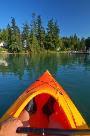 Kayaking in the Puget Sound