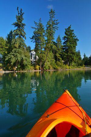 puget sound: Kayak in Puget Sound