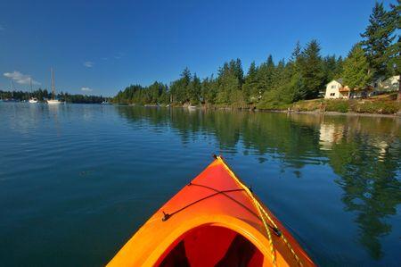 inlet bay: Kayaking in the Puget Sound