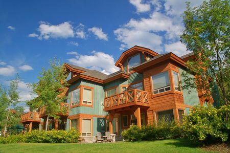 retreats: vacation condos at a ski resort in summer Editorial