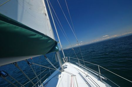 sailing in the Puget Sound of Washington State
