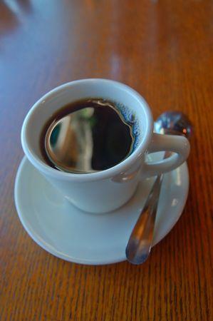 coffe cup on breakfast table Stok Fotoğraf
