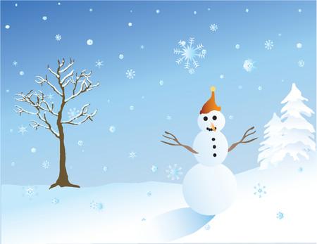 snowaman  イラスト・ベクター素材