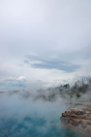 geyser in Yellowstone National Park photo