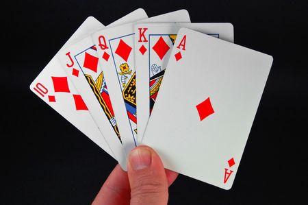 dealt: royal flush, a really good poker hand