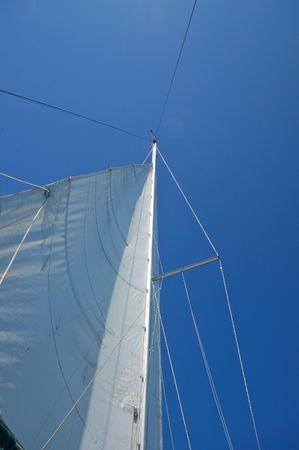 mast of a sailboat