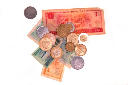 coinage: various money and coinage from around the world Stock Photo