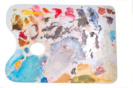 pallette: OK, pas vraiment l'art moderne, juste un d�sordre palette du peintre