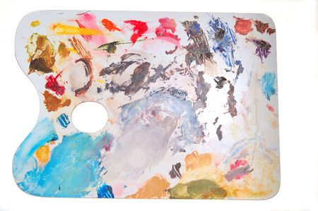 pallette: okay, not really modern art, just a messy painters pallette