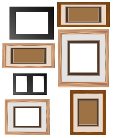 virtual picture frames, simply remove the back layer and slip in the picture of your choice for your own virtual gallery piece