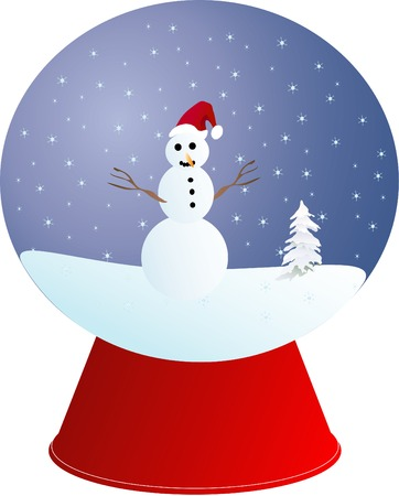 Christmas ball with a snowman in it Vector