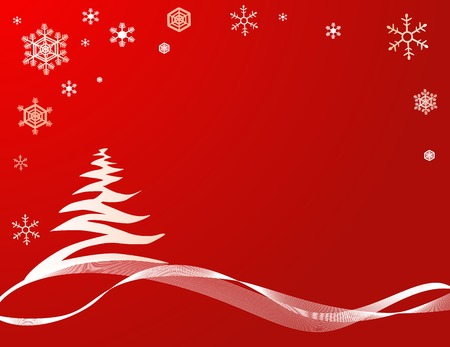 Noël fond bleu avec des arbres stylisés Banque d'images - 2068207