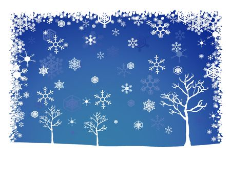 Wintery Christmas landscape background photo
