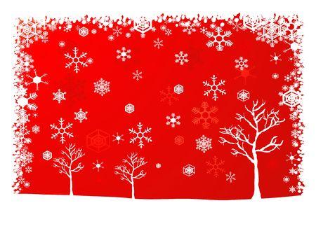 Paysage hivernal de Noël de fond  Banque d'images - 2232646