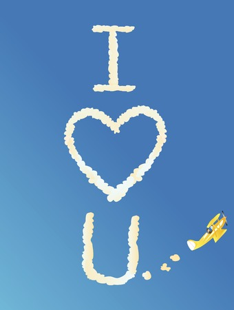 biplane skywriting the words Фото со стока - 2567621