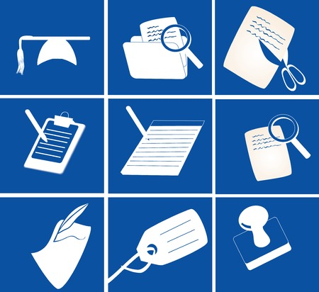 icons related to writing, stationery, office, education vector illustration Stock Vector - 2571616