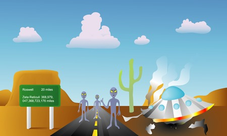 ufology: Its another race from outer space, vector illustration Illustration