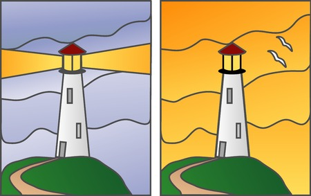 stained: Lightouse illustration