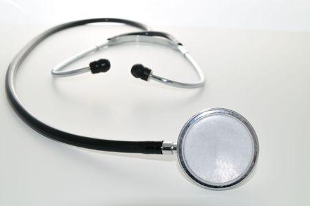 murmur: stethoscope on a white background