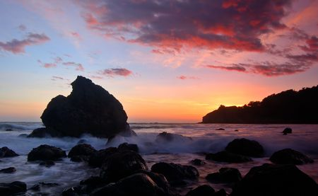 muir: Sunset at Muir Beach, California