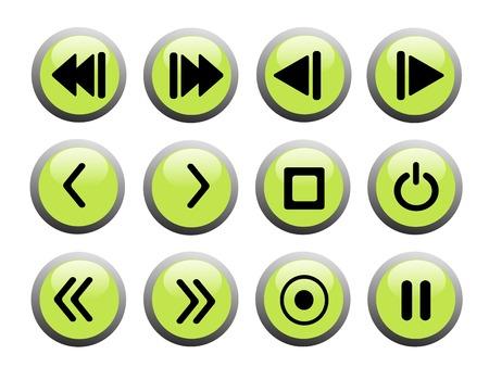 緑と黒の記録符号アイコンを設定します。