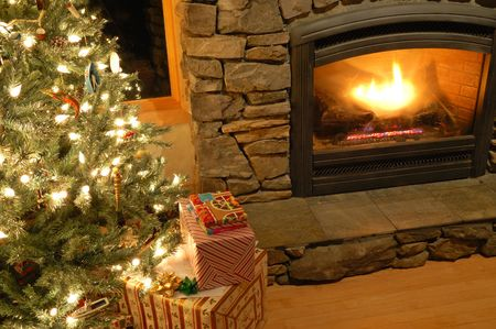 Christmas eve scene in a living room Stock Photo - 3646648