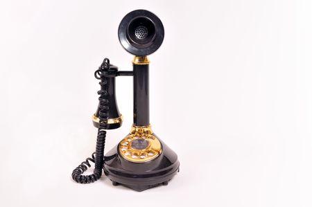 phonecall: antique black telephone
