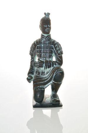 miniature statue of a Chinese terra cotta warrior