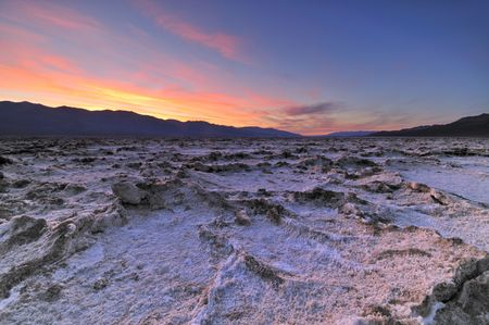 death valley: Badwater Basin in Death Valley National Park Stock Photo