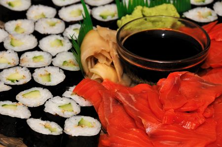sushi as an appetizer at a party photo