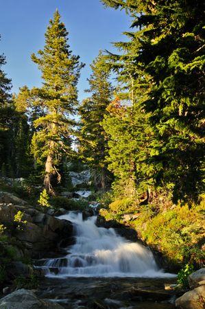 high sierra: Stream in the high Sierra near Sylvia Lake Stock Photo